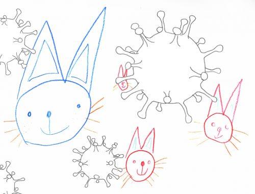 Virus Monster Ostern