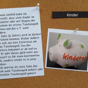Taschengeld für Kinder
